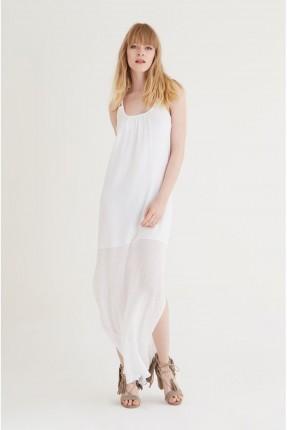 فستان سبور حفر - ابيض