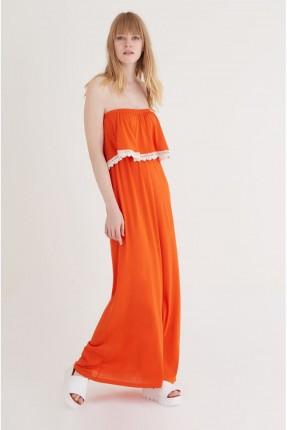 فستان طويل - برتقالي