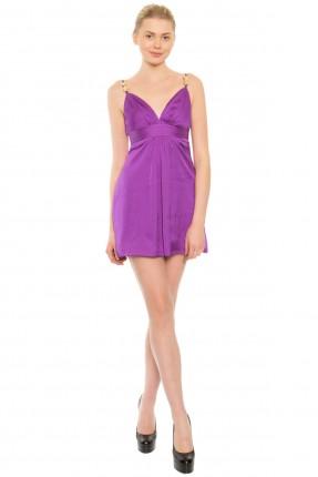 فستان قصير - بنفسجي