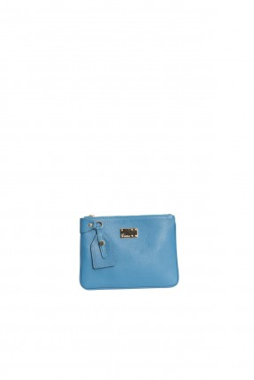 حقيبة جلد نسائية - ازرق