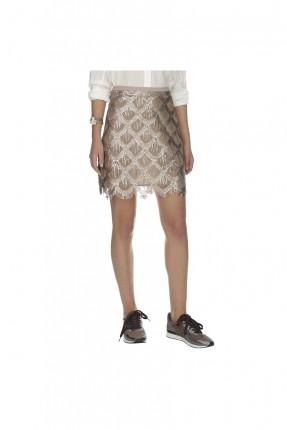 تنورة قصيرة - بيج