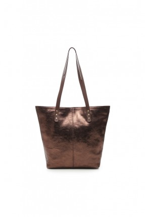حقيبة يد نسائية جلد - برونز