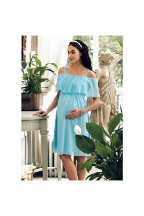 فستان حمل مكشكش - ازرق