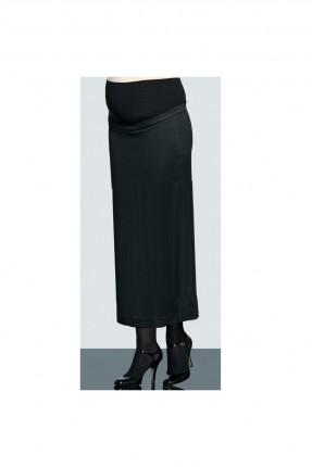 تنورة حمل طويلة كلاسيك - اسود