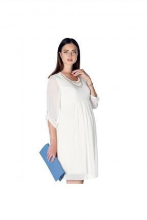 فستان حمل شيفون - ابيض