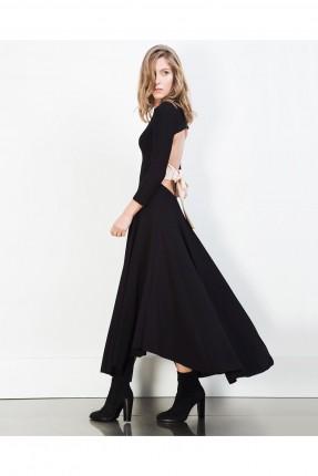 فستان مفتوح الظهر - اسود