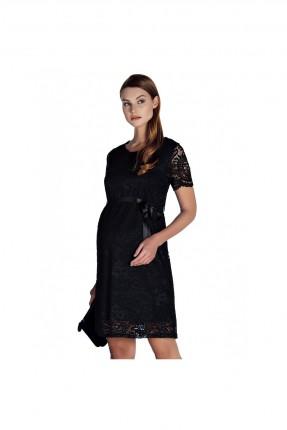 فستان حمل دانتيل - اسود