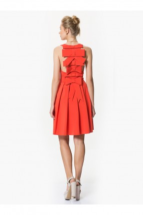 فستان بدون اكمام - برتقالي