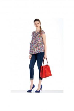بنطال حمل جينز - ازرق
