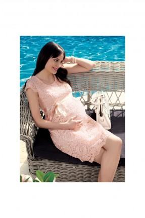 فستان حمل دانتيل - وردي