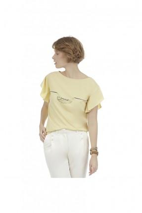 بلوز نسائي - اصفر
