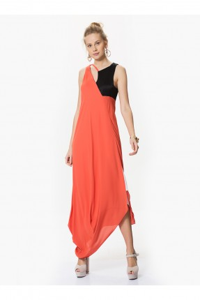فستان حفر - برتقالي