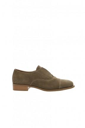 حذاء نسائي - زيتي