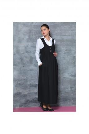 فستان حامل طويل - اسود