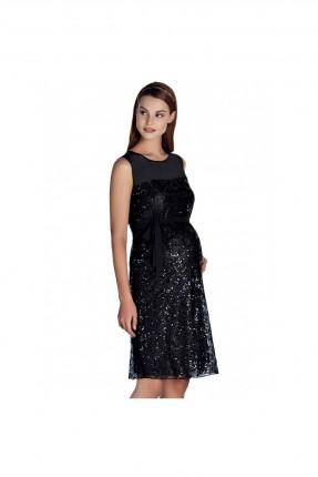 فستان حمل شيفون - اسود