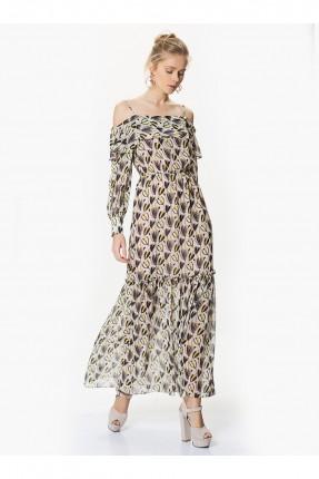 فستان مفتوح الاكتاف