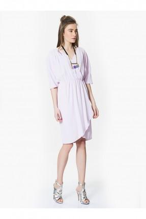 فستان مزموم الخصر