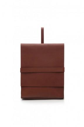 حقيبة ظهر نسائية جلد - بني