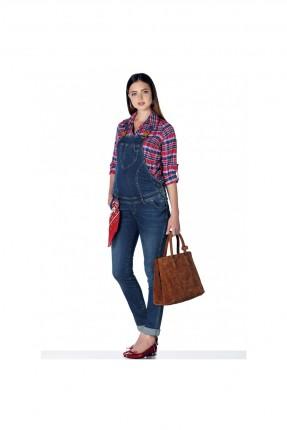 افرول نسائي حمل جينز - ازرق داكن