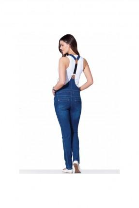 افرول نسائي حمل جينز - ازرق
