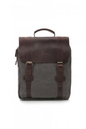 حقيبة ظهر نسائية - بني رمادي