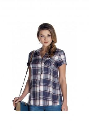 قميص حامل كارو نصف كم