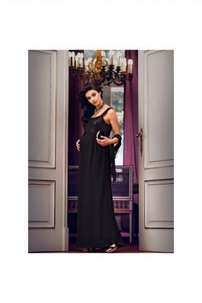 فستان حمل شيال طويل - اسود