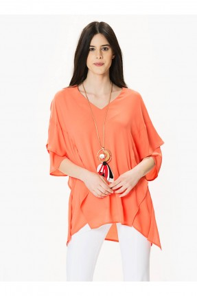 بلوز طبقات - برتقالي