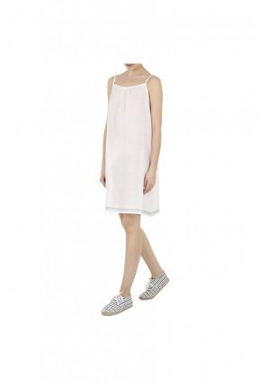 ثوب نوم نسائي قصير - ابيض