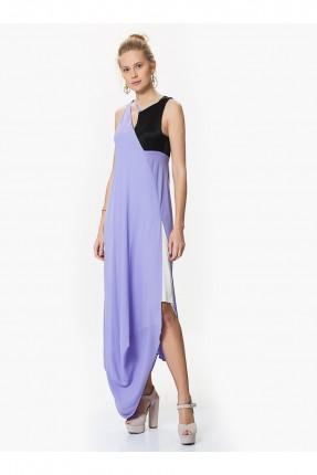 فستان بدون اكمام - ازرق