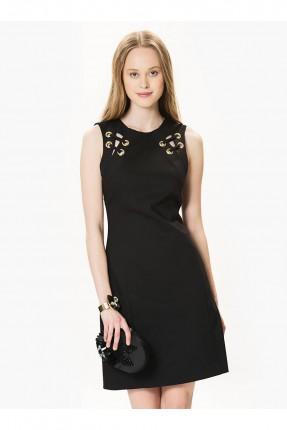 فستان مع سحاب -اسود