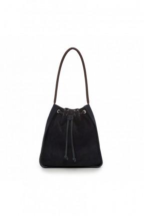حقيبة يد نسائية  جلد - كحلي