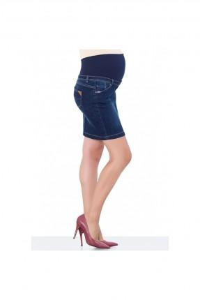 تنورة حمل قصيرة جينز - ازرق داكن