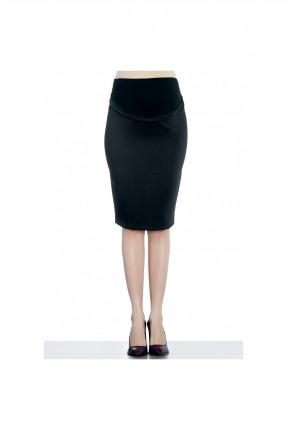 تنورة حمل قصيرة كلاسيك - اسود