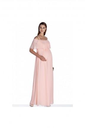 فستان حامل مع كشكش - زهري