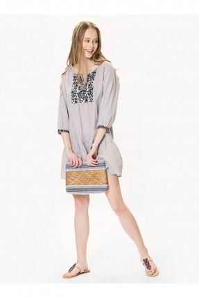 فستان قصير - بيج
