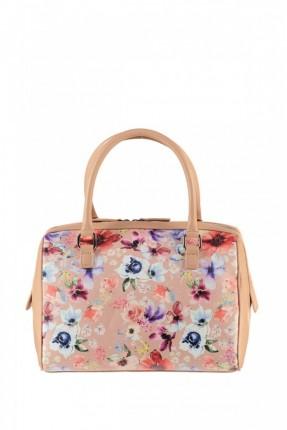 حقيبة يد نسائية مزخرفة - وردي