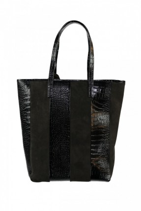 حقيبة يد نسائية مع شراشيب - اسود