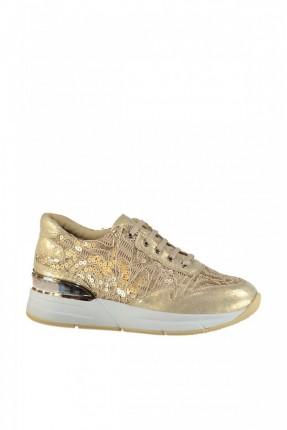 حذاء نسائي مع خرز الترتر - بيج