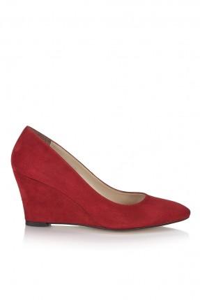حذاء نسائي كعب روكي - احمر