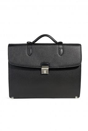 حقيبة يد جلد رجالي - اسود