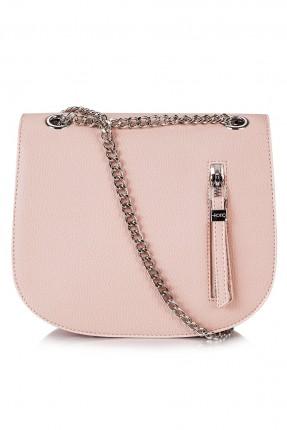 حقيبة نسائية مع سنسال - وردي