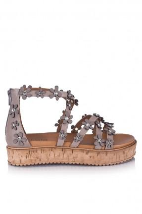 حذاء نسائي - رمادي