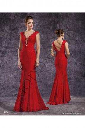 فستان سهرة موديل السمكة - احمر