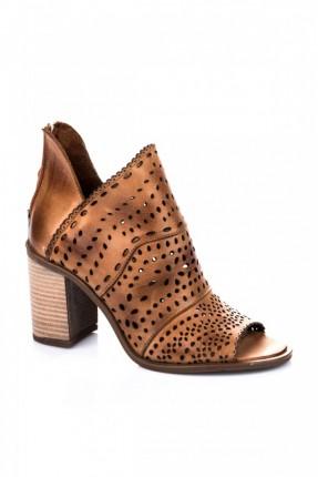 حذاء نسائي مفتوح - بني