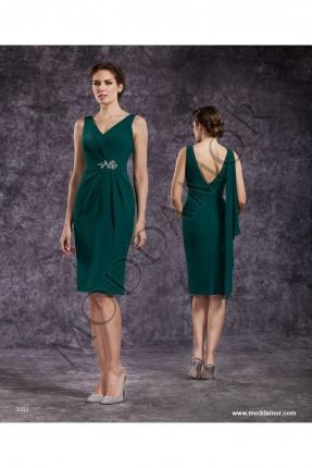 فستان سهرة قصير - اخضر