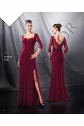 فستان سهرة طويل دانتيل - خمري