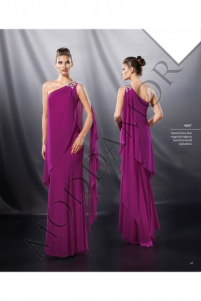 فستان سهرة طويل كتف واحدة