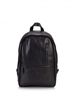 حقيبة ظهر جلد رجالية - اسود