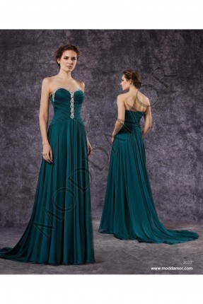 فستان سهرة طويل كت - اخضر